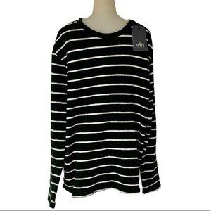 LEVI'S HandCrafted Stripe BlackWhite KnitSweater L
